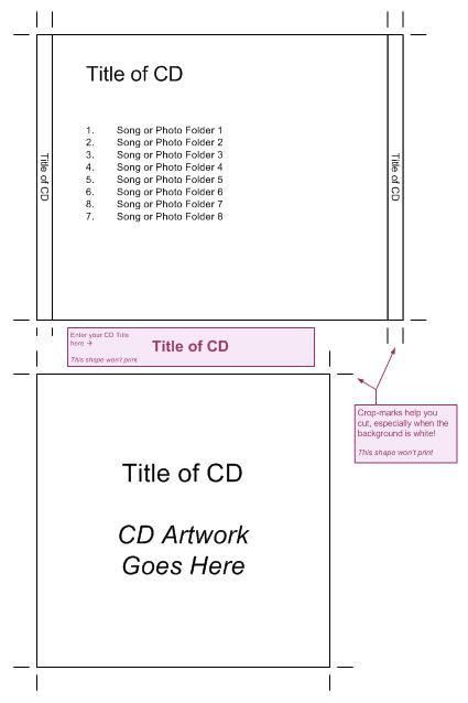 Visio Guy » CD Jewel Case Template