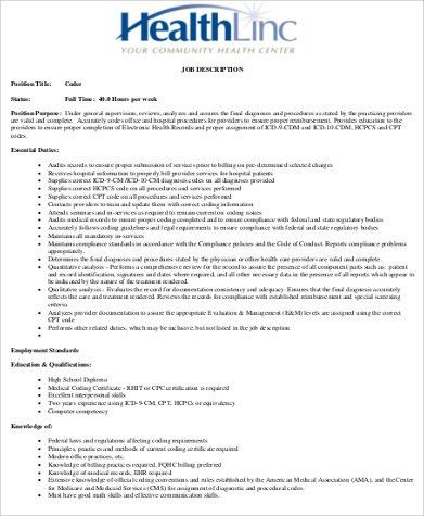 Medical Billing And Coding Job Description. Getting Your First ...