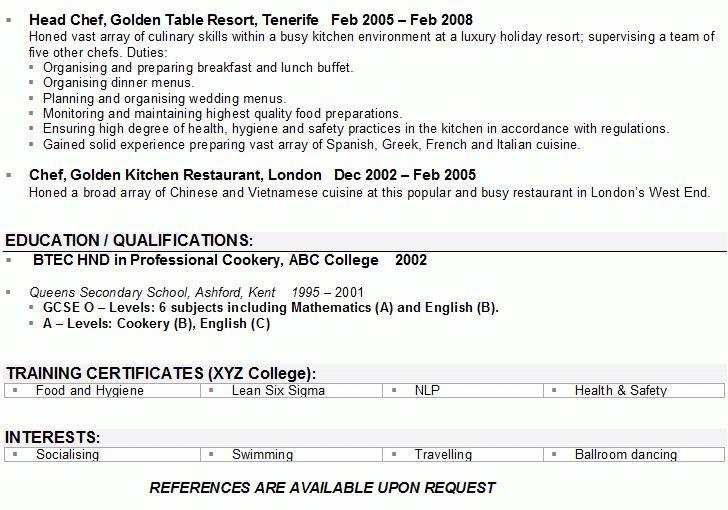 British CV Example