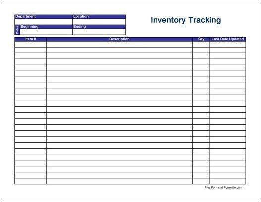 7 Best Images of Free Printable Inventory Forms - Free Inventory ...