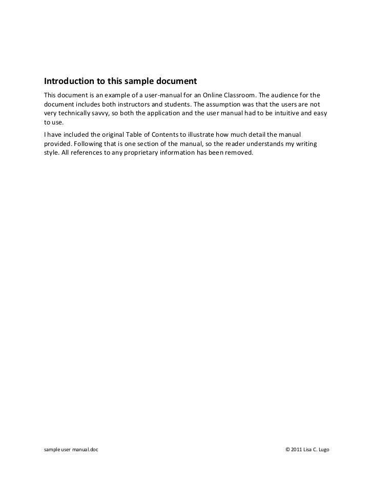 manual user guide template