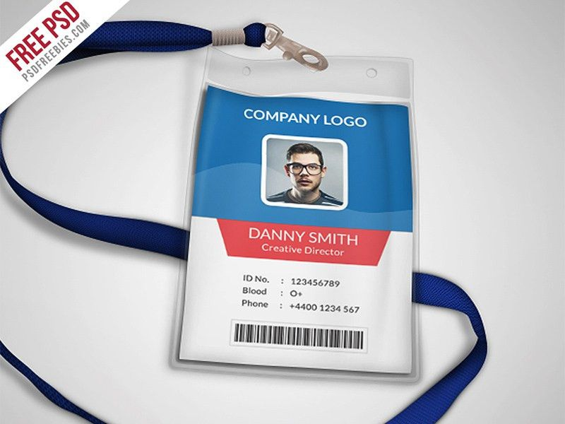 Multipurpose Company Id Card Free Psd Template by PSD Freebies ...