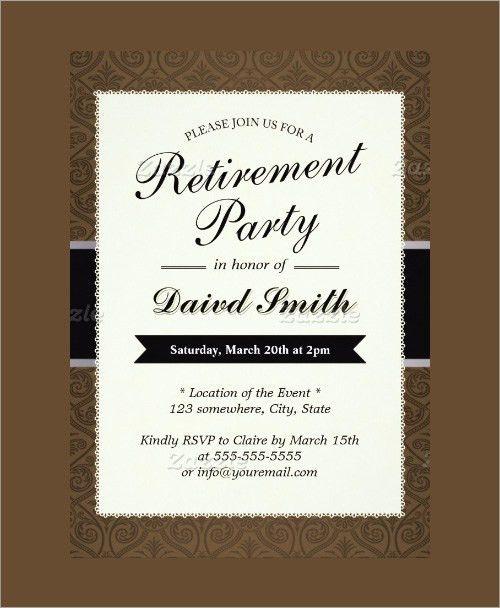 retirement party invitation templates - thebridgesummit.co