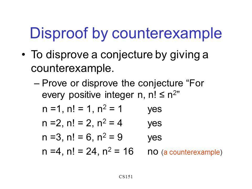 CS151: Mathematical Foundations of Computing Mathematical ...