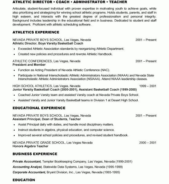 Excellent Idea Basketball Coach Resume 1 Coach Resume Example ...