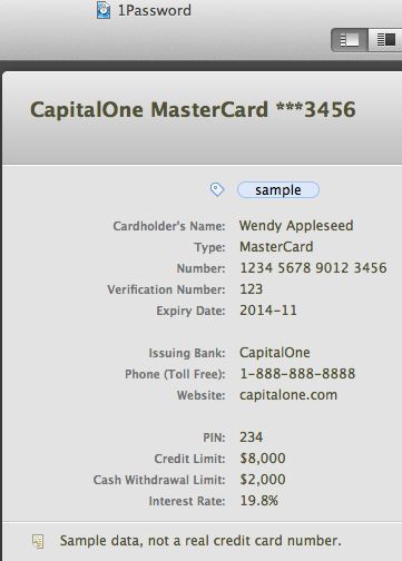 AgileBits Blog | Credit card stored in 1Password