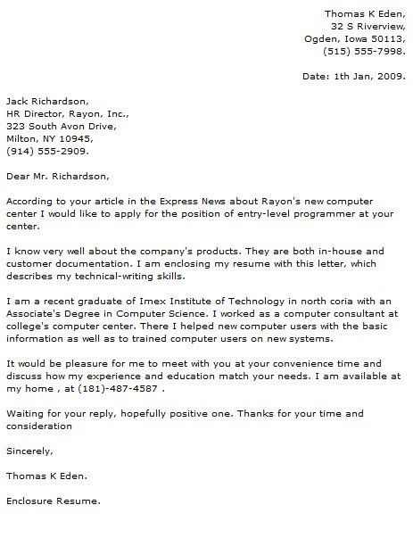 Graduate Cover Letter Examples - Cover Letter Now
