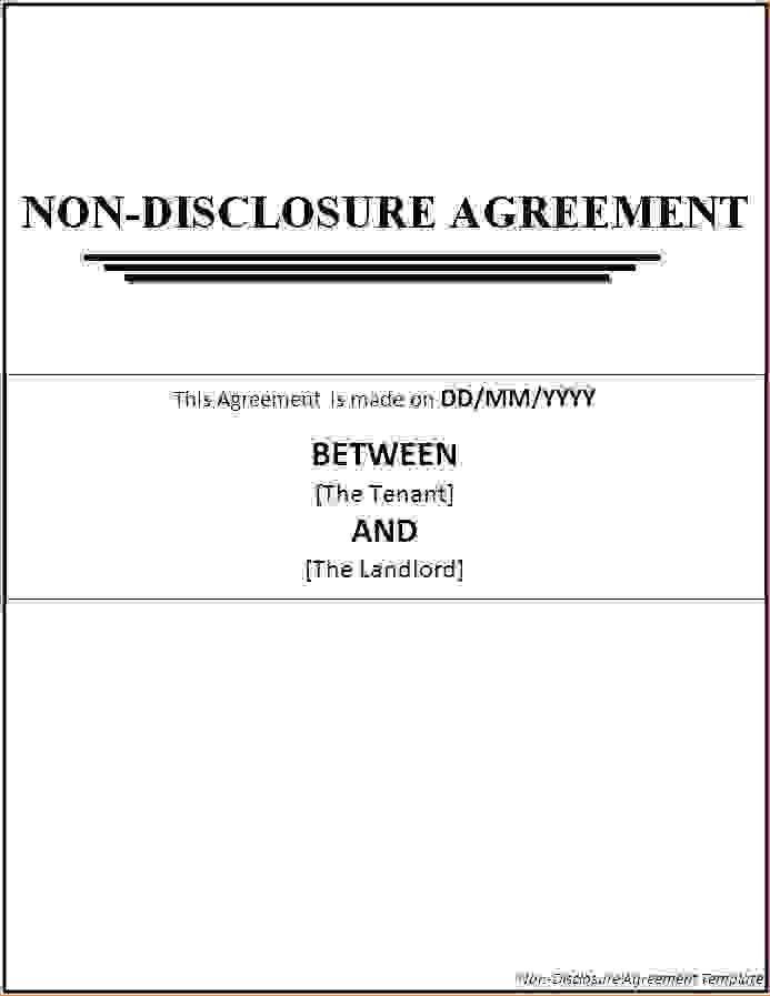 4 non disclosure agreement template wordReport Template Document ...