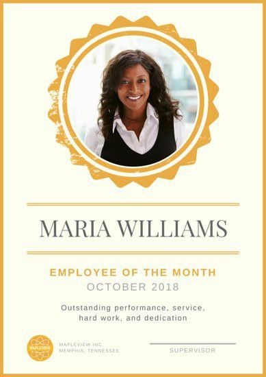 Employee Of The Month Poster - Templates by Canva
