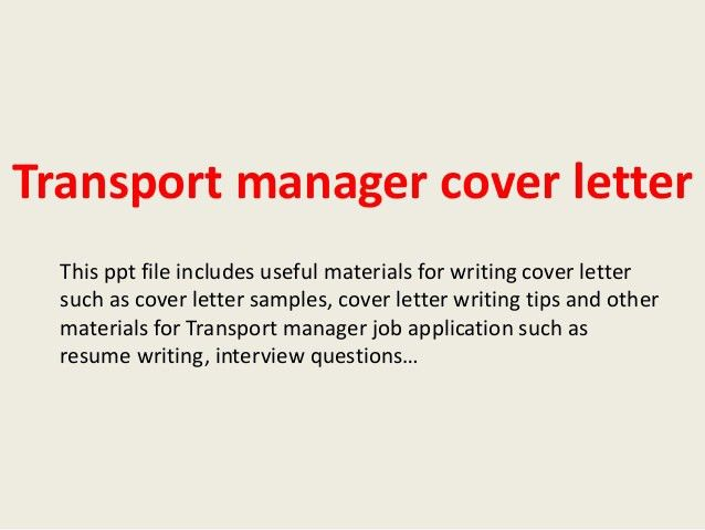 transport manager cover letter 1 638jpgcb