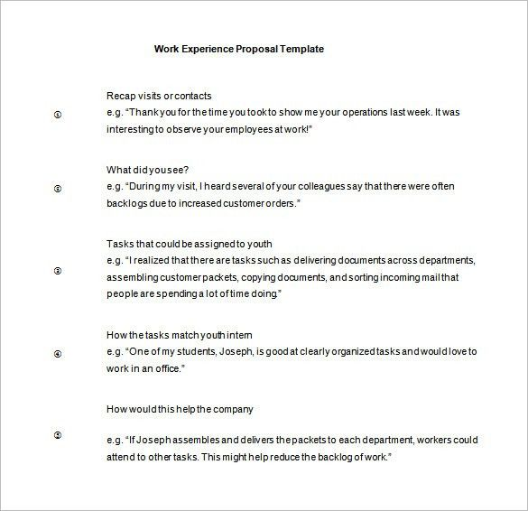 Work Proposal Template – 11+ Free Word, Excel, PDF Format Download ...