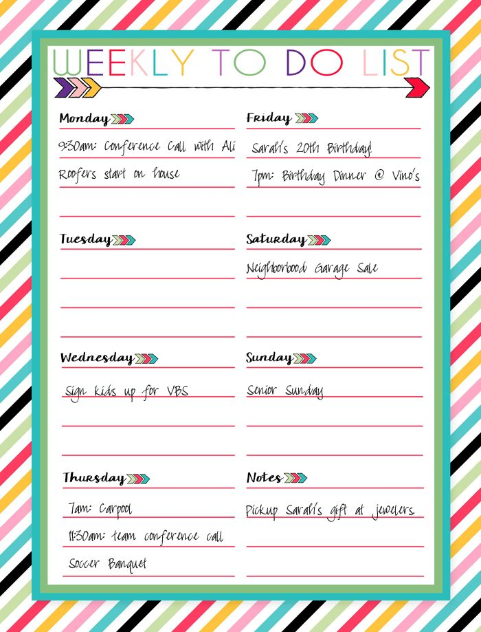Free Printable Daily, Weekly, and Monthly Calendars | Free ...