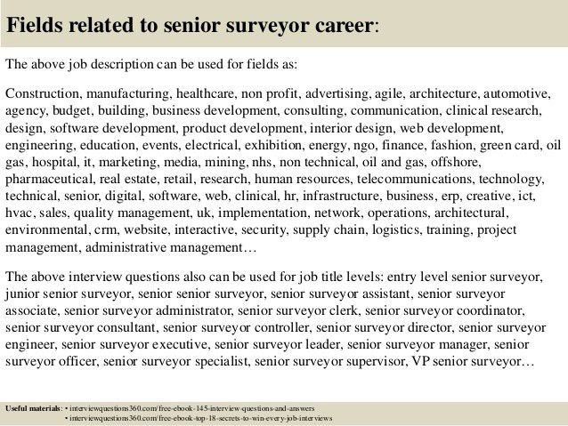 Top 10 senior surveyor interview questions and answers