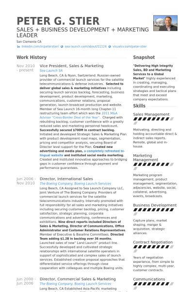 Marketing Resume samples - VisualCV resume samples database