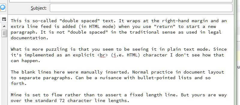 Single line spacing | Thunderbird Support Forum | Mozilla Support