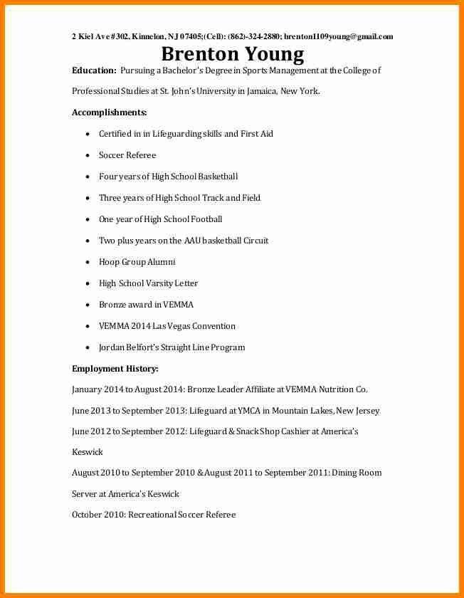 sample resume of college freshmen sample resumes career services ...
