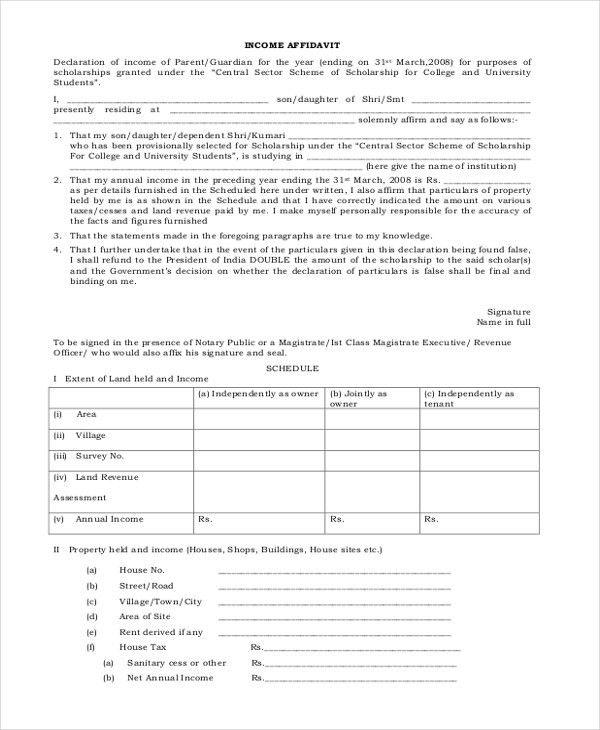 Sample Affidavit Forms - 13+ Free Documents in PDF