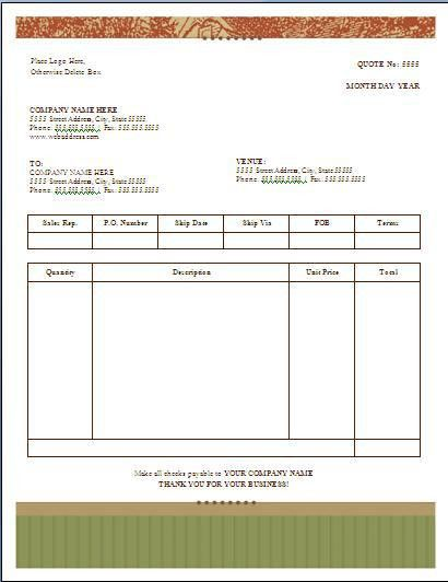 Quotation Template. After Creating Invoice Template, I Decided To ...