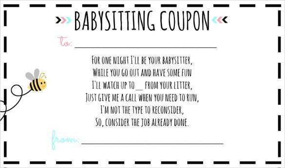 10+ Babysitting Voucher Templates – Free Sample, Example Format ...