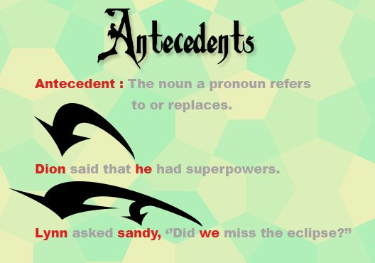 Antecedents - Meaning, Definition, Singular, Plural, Rules ...
