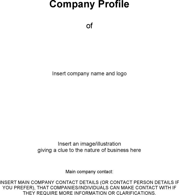 Free Business Company Profile Template - FormXls