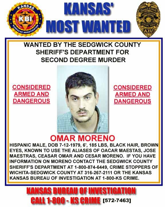 KBI - Kansas Bureau of Investigation - Kansas Most Wanted - Omar ...