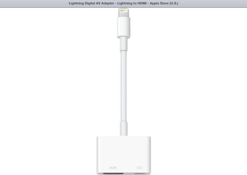 IPAD 4 to HDMI via IPAD 3 HDMI Cable and lightning connector ...