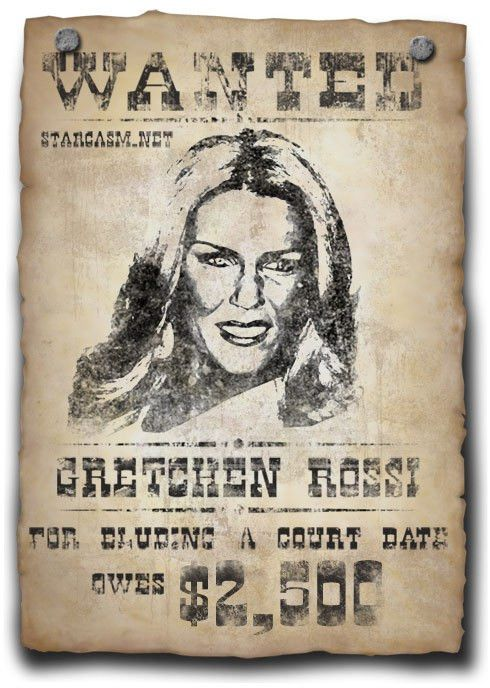 Wanted Poster for Gretchen Rossi - starcasm.net