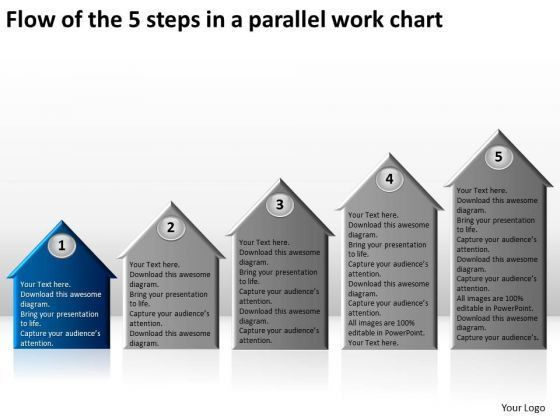Flow Of The 5 Steps In A Parallel Work Chart Business Plan ...