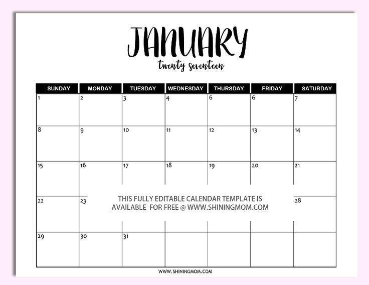 Best 25+ Monthly calendar template ideas on Pinterest | Free ...