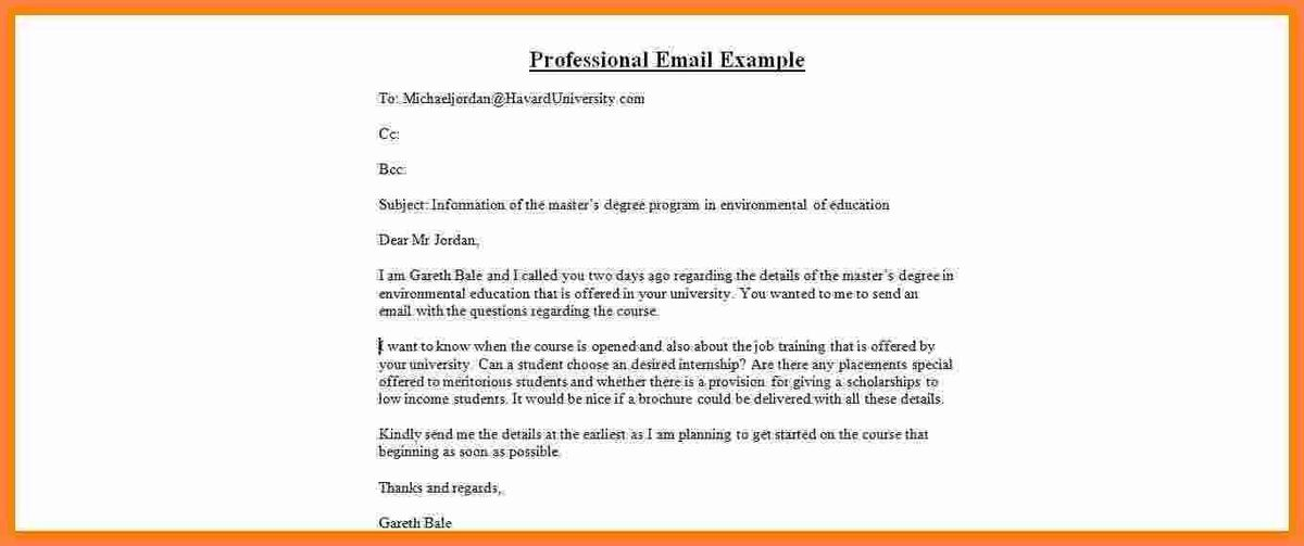 5+ sample professional email | Invoice Example 2017