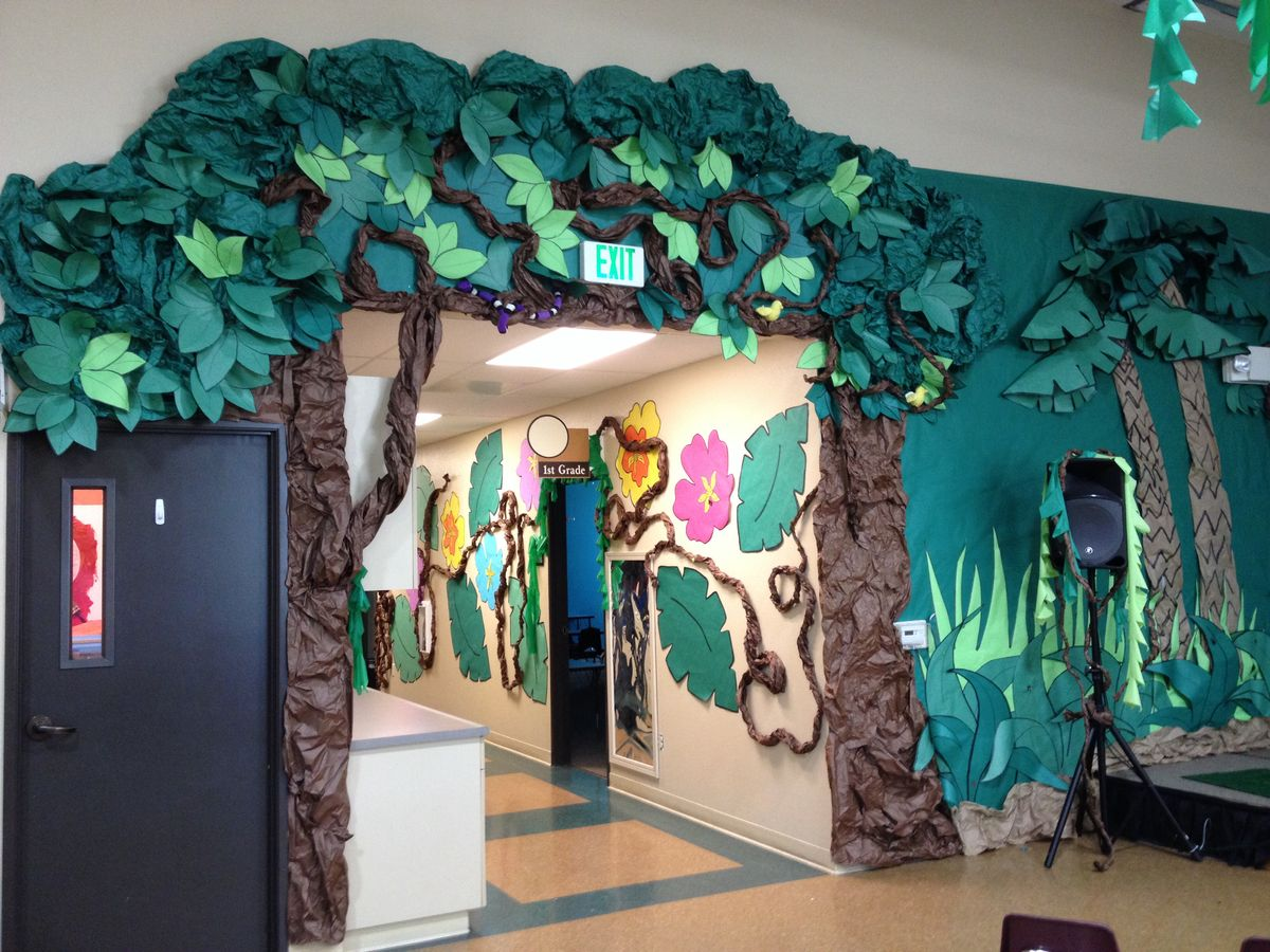 Jungle theme vbs crafts for Decoration jungle