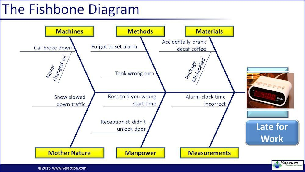 Cause and Effect / Ishikawa Diagram / Fishbone Diagram PowerPoint ...