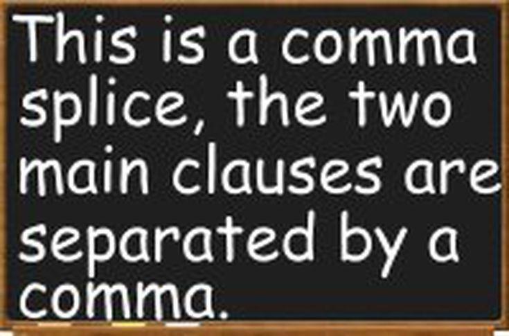 Comma Splices: Error or Eloquence?