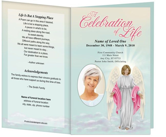 10 Best Images of Free Funeral Program Card Templates - Funeral ...