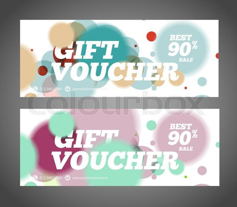 Gift voucher design template. Discount voucher template. Sale ...