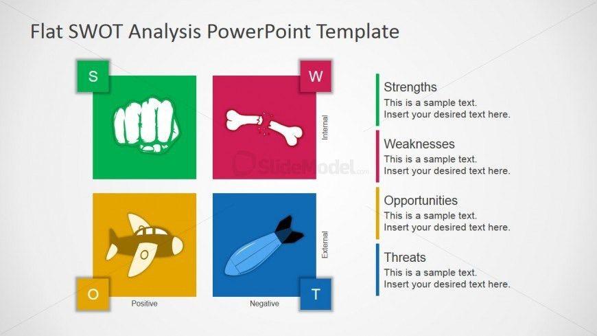Flat Design Free SWOT Presentation Template - SlideModel