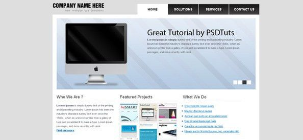 Basic Website CSS Template with great Slider Carousel - Website ...