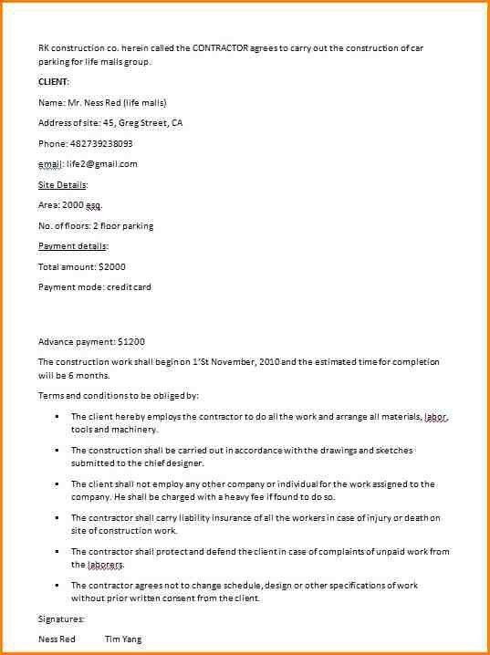 5+ residential construction contract template | writable calendar