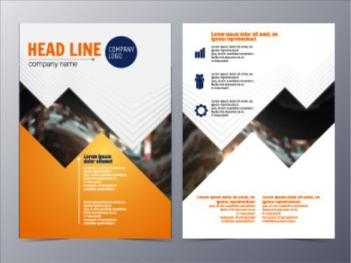 Fashion company flyer and brochure cover 07 - Vector Cover free ...
