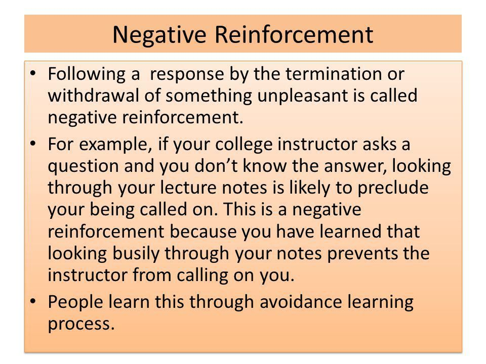 LEARNING PROCESS & REINFORCEMENTS - ppt download
