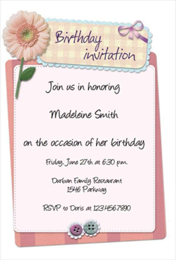 Birthday Invitation Templates in PDF | Free & Premium Templates