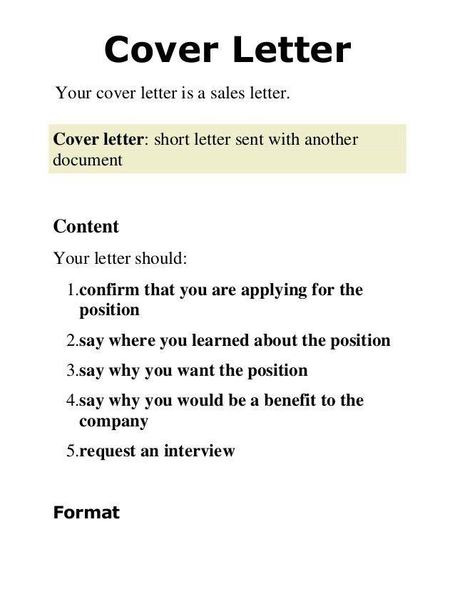 2. cover letter presentation