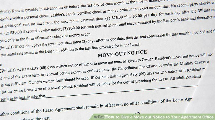 How to Give a Move out Notice to Your Apartment Office: 6 Steps