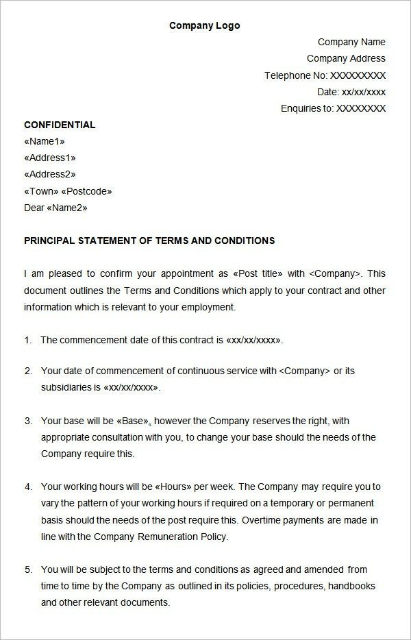 Hr Proposal Template. Sample Statement Employment Contract ...