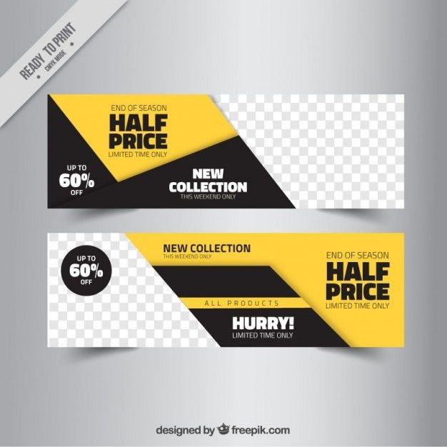 Abstract sale banner templates Vector | Free Download