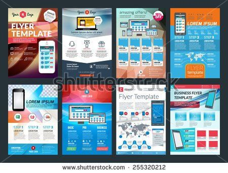 Vector Business Flyer Template Mobile Application Stock Vector ...