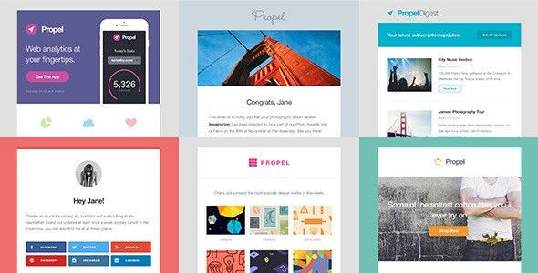 Propel - 6 Responsive Email Templates by Templity | ThemeForest