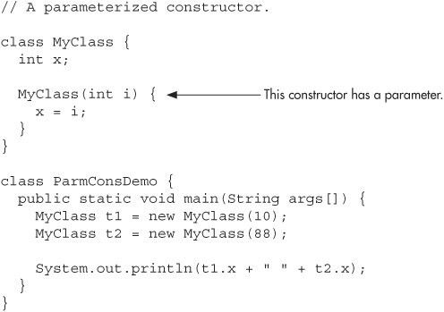 Parameterized Constructors - Java, A Beginner's Guide, 5th Edition ...
