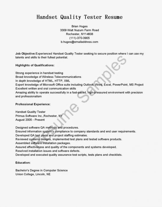 Quality Assurance Cover Letter [Template.billybullock.us ]
